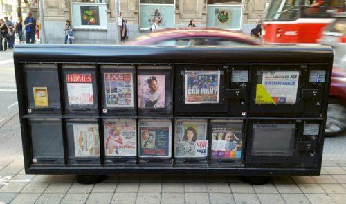 Black publication kiosk