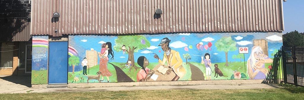 Wall art in the Wilson Jane community