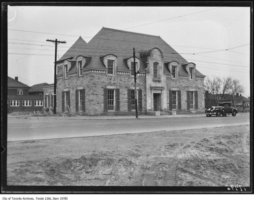This is a phoograph of the Runnymede public library taken in 1931