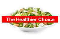 Salad, the healthier choice