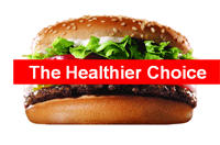 Hamburger, the healthier choice
