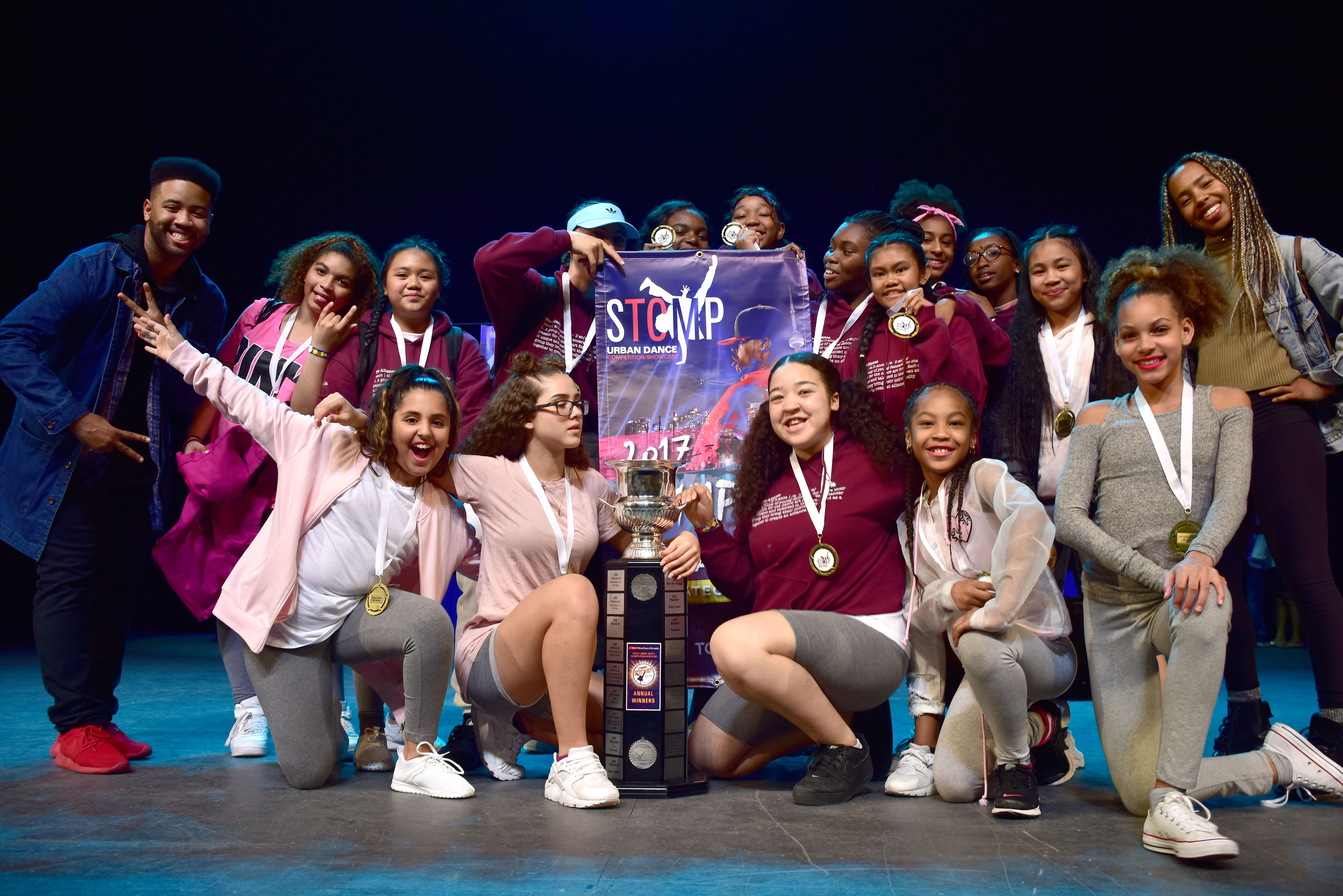 STOMP 2017 Advanced dance group winners