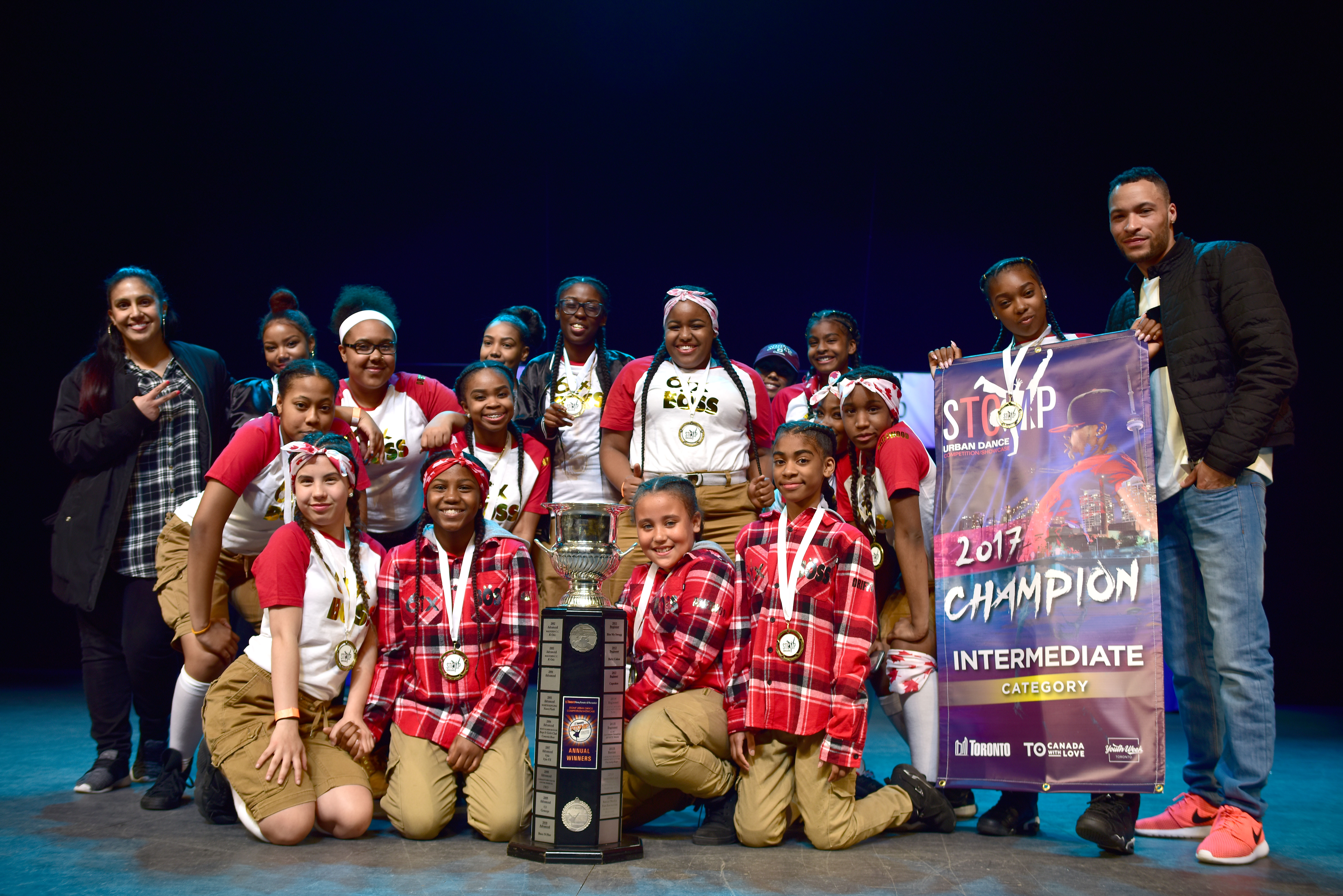 STOMP 2017 Intermediate dance group winners