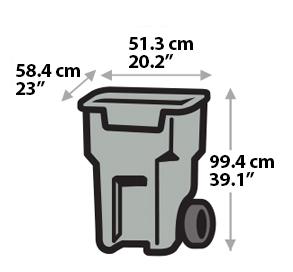 Garbage Bin - Medium