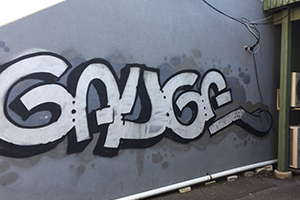 Graffiti on private property