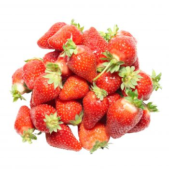 A bunch of red strawberries