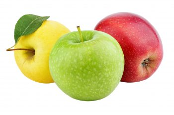 Yellow, Green and Red Apples