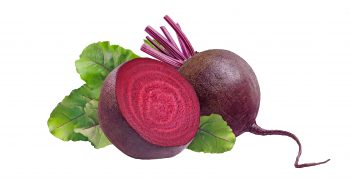 Whole beet root and a half beet.