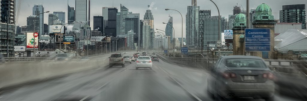 Image of the gardiner expressway and city buildings