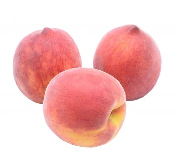 Three ripe peaches.