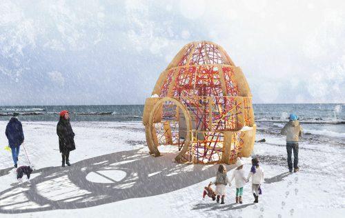 wooden igloo