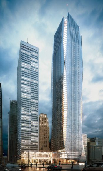 Commerce Court artist rendering of two towers