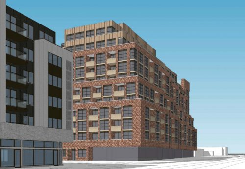 Perspective view of the proposed building at 1779-1791 St Clair Avenue West