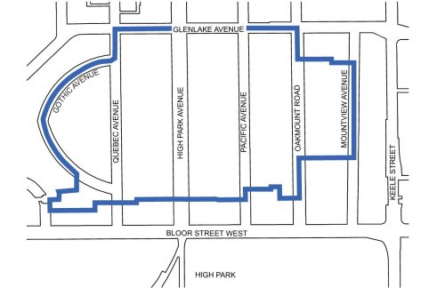 High Park Apartment Neighbourhood Study Boundary