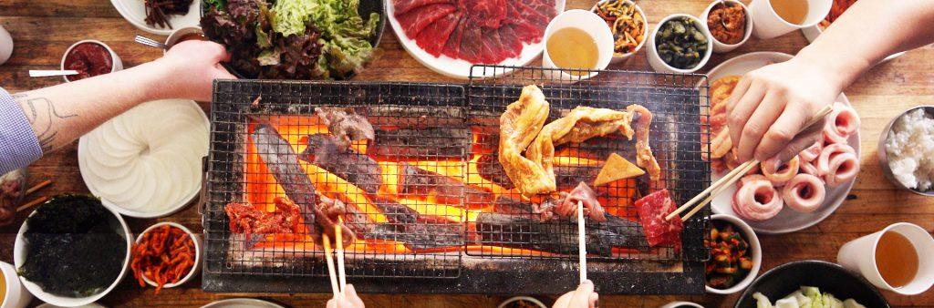 Korean BBQ food shot