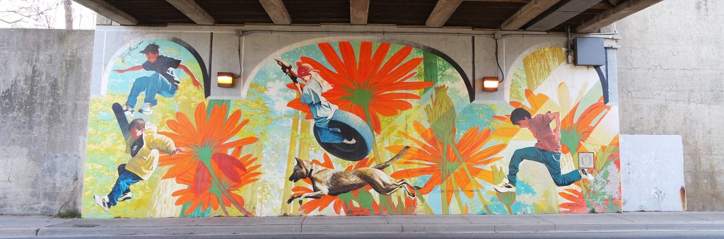 Kids Play – an underpass mural in North York
