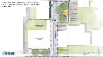 Site plan for Glasgow St Parkette