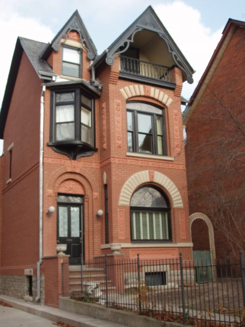 A photo of a house at 314 Wellesley Street East that used the Heritage Grant Program