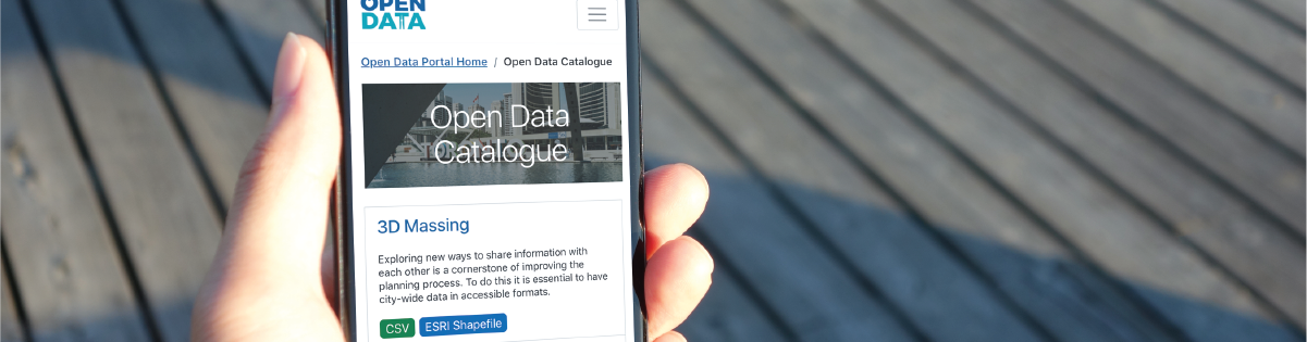 open data portal on mobile device