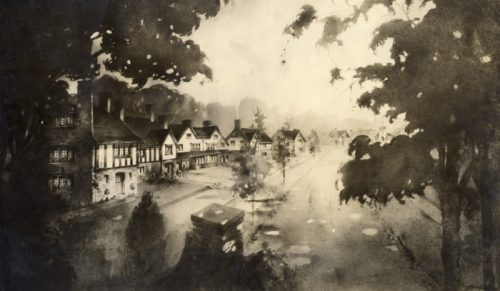 this is a drawing showing houses that were to be built in 1913 on baby point road.
