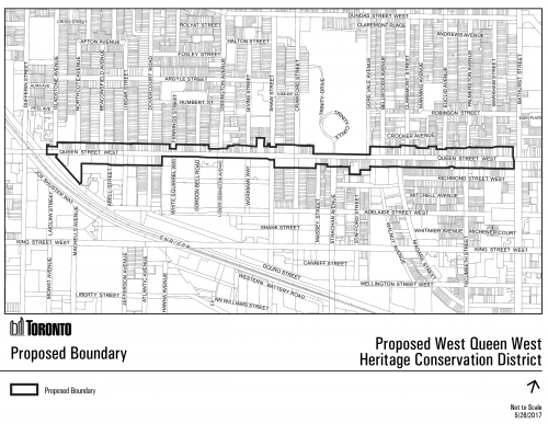 Proposed boundary for the West Queen West HCD Plan