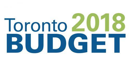 2018 Toronto Budget logo