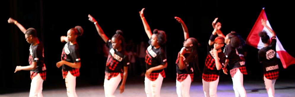 dancers performing at the STOMP Urban Dance Competition/Showcase