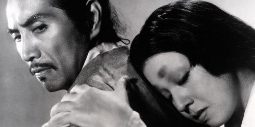 Image info: Rashomon. couple embracing.