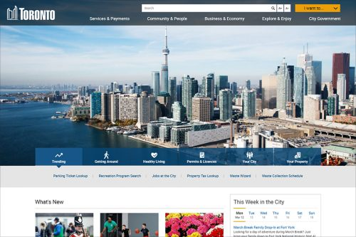 New City of Toronto website home page