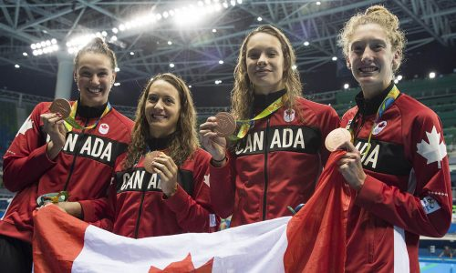 Canadian Women Olympic 4x100m Swim Relay 2018 Toronto Sport Hall of Honour Inductees