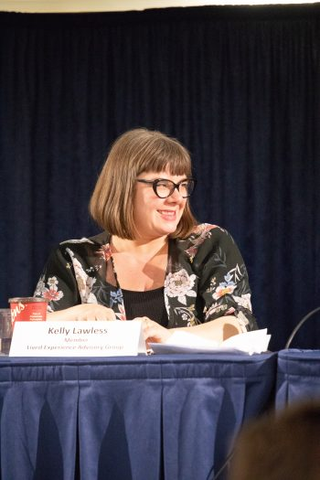 Kelly Lawless, panellist smiling