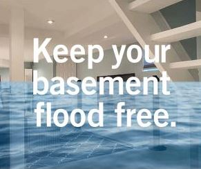 Keep your basement flood free - finished basement with water