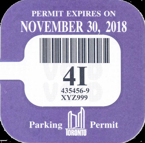 A purple sticker of the renew sticker