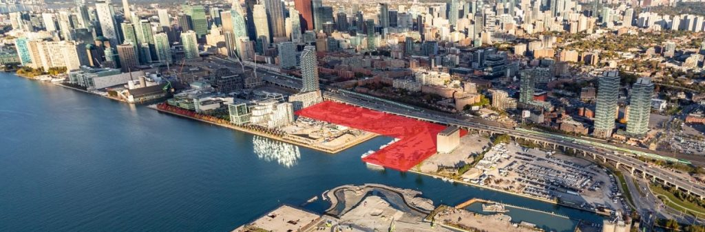 Aerial photo of Quayside area