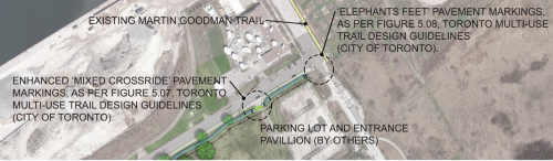 Figure 1 Proposed concept design of temporary and permanent trail crossings