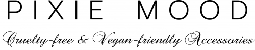 logo for pixie mood that says cruelty-free, vegan-friendly accessories