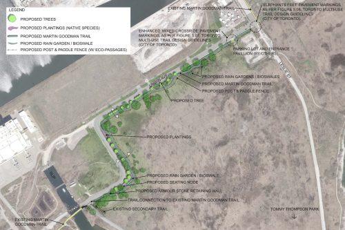 Unwin Avenue Connection Martin Goodman Trail proposed alignment