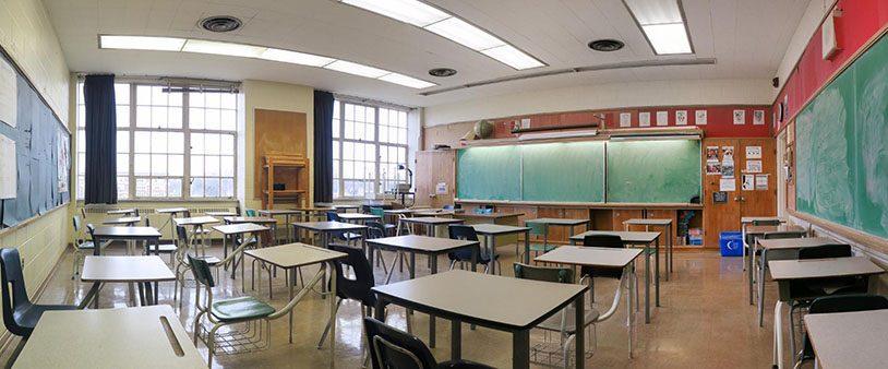 Photo of empty Danforth Collegiate and Technical Institute classroom.