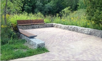 Figure 3 Example of similar resting area and benches