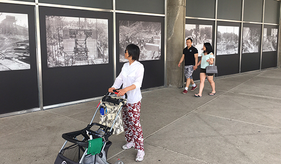 Doors Open visitors view City Hall photo exhibition