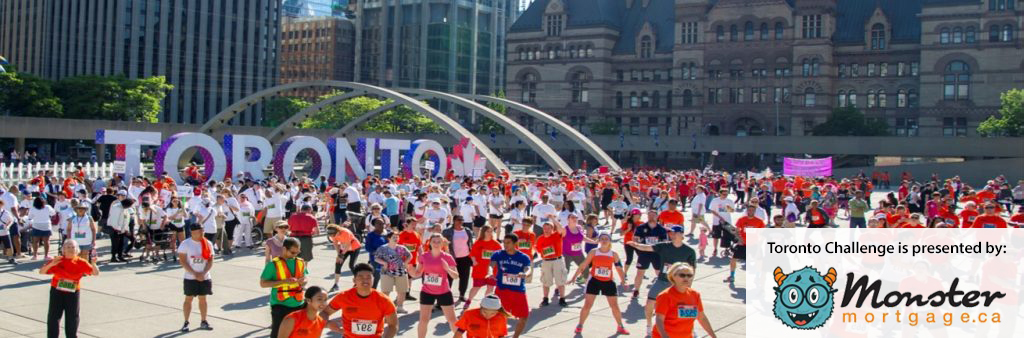 people stretching in Nathan Philips Square