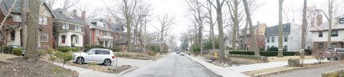 This is a photograph of Wells Hill Avenue