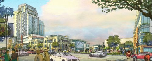 Rendering of the proposed Yorkdale Block Master Plan