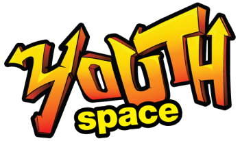 A brightly coloured logo with the text Youth Space