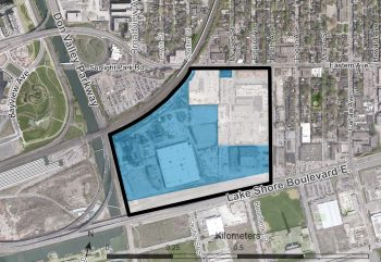 Unilever Precinct with lands owned by First Gulf shown in blue