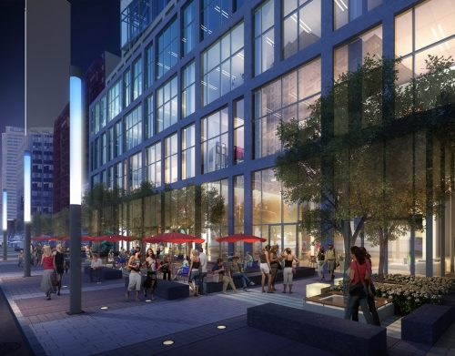 Rendering of the proposal for 150 Eglinton