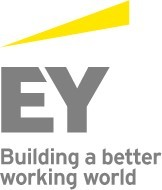 2018 Public Sector Project Management Forum corporate sponsor logo EY with yellow triangle and the words Building a better working world