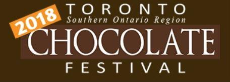 Toronto Chocolate Festival - word mark - brown background, white text