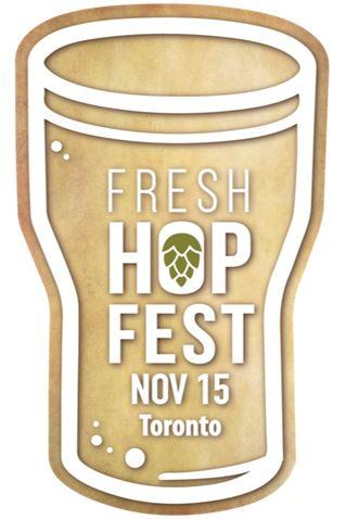 Fresh Hop Fest wordmark - illustration of beer glass