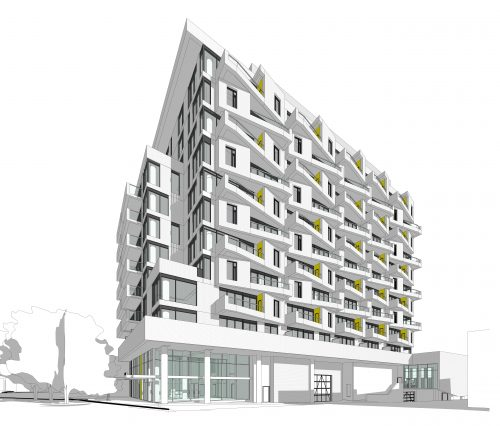 Rendering showing the proposal for 5509 Dundas St W